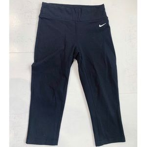 Nike Black Cropped Dri-fit Leggings